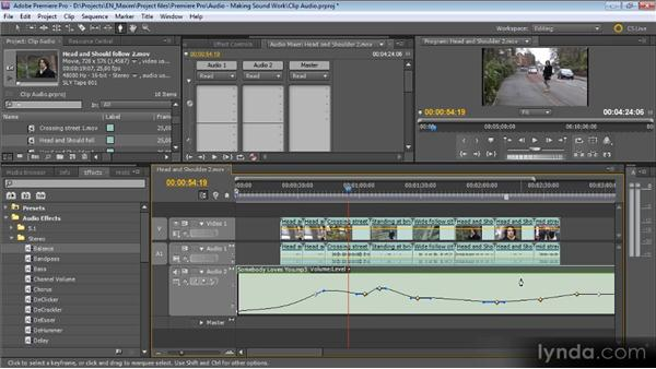 Clip-based audio adjustments: Getting Started with Premiere Pro CS5