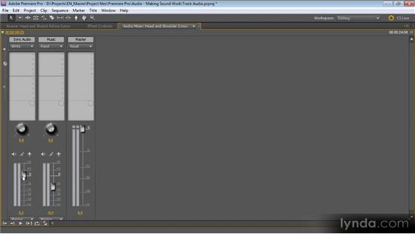Track-based audio adjustments: Getting Started with Premiere Pro CS5
