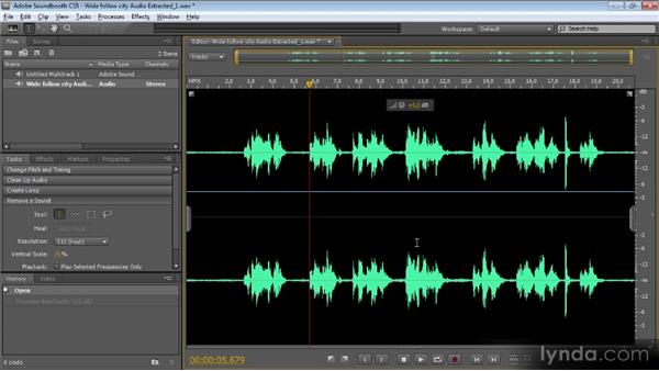 Making sound work with Soundbooth: Getting Started with Premiere Pro CS5