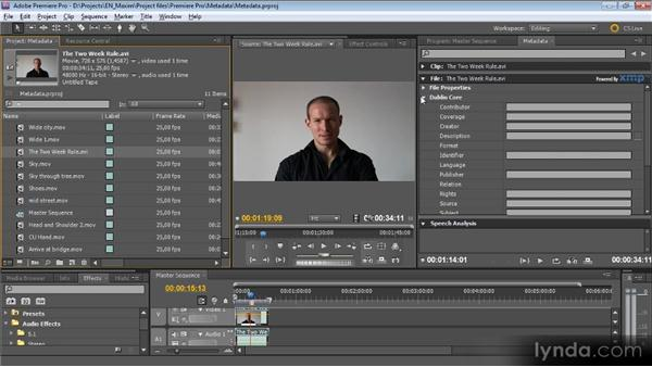 Metadata: What it is, why it matters, and how to use it: Getting Started with Premiere Pro CS5