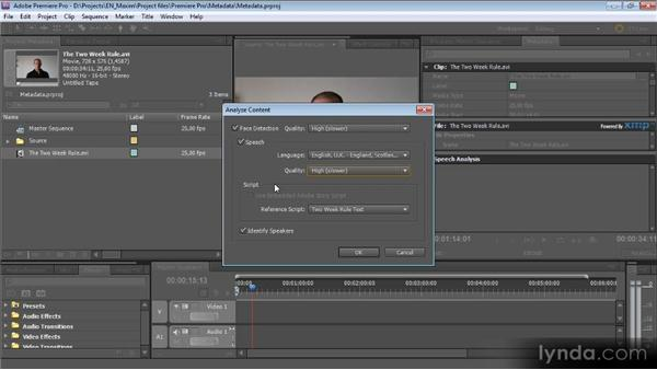 Working with speech to text: Getting Started with Premiere Pro CS5
