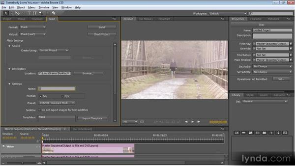 Outputting to DVD and the web with Encore: Getting Started with Premiere Pro CS5