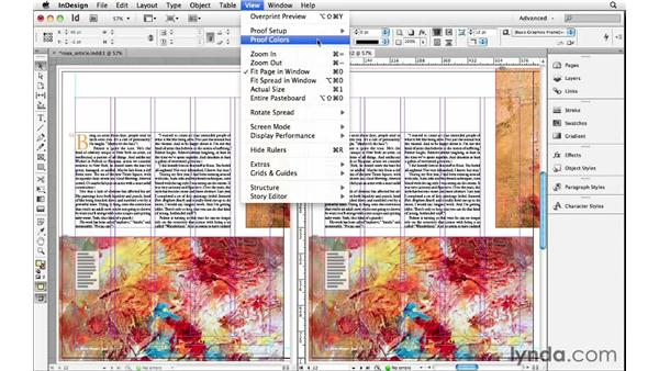 Displaying a new window or split screen: InDesign Insider Training: Beyond the Essentials
