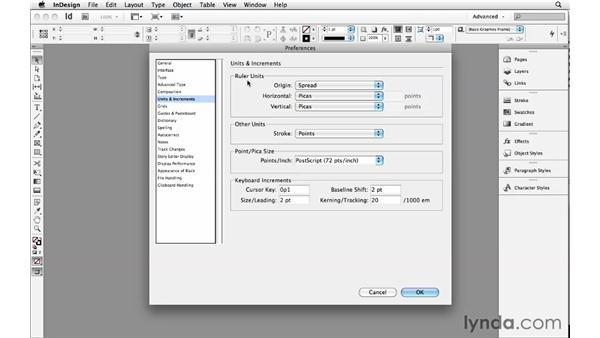 Setting application and document preferences: InDesign Insider Training: Beyond the Essentials