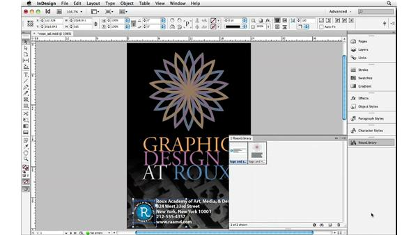 Saving objects in libraries: InDesign Insider Training: Beyond the Essentials