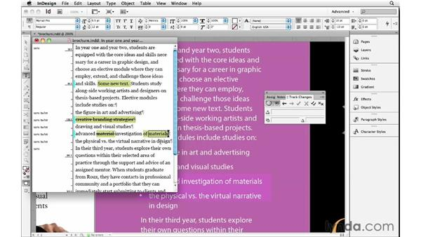 Tracking text changes: InDesign Insider Training: Beyond the Essentials