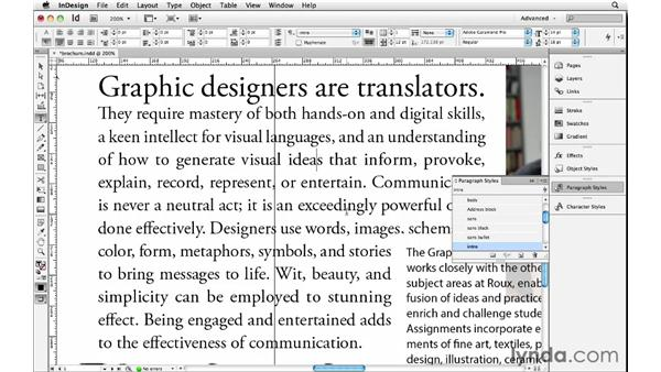 Adjusting text hyphenation and justification: InDesign Insider Training: Beyond the Essentials