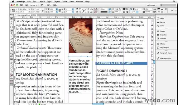 Setting vertical justification and first baseline position: InDesign Insider Training: Beyond the Essentials
