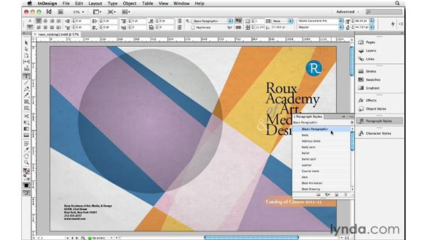 Using Break Link to Style: InDesign Insider Training: Beyond the Essentials