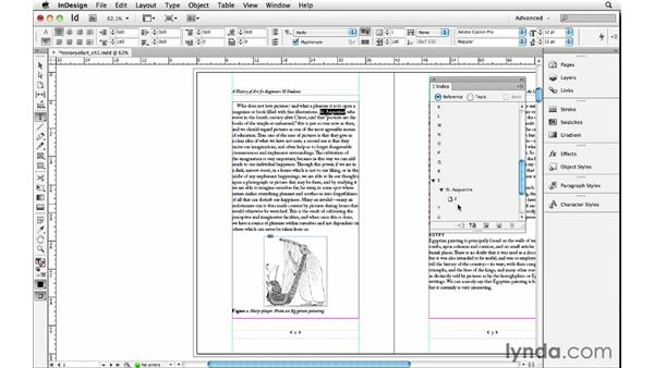 Indexing a document: InDesign Insider Training: Beyond the Essentials