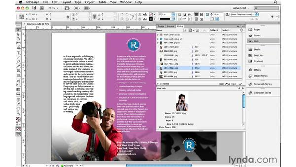 Advanced Links panel features: InDesign Insider Training: Beyond the Essentials