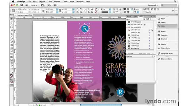 Embedding links: InDesign Insider Training: Beyond the Essentials