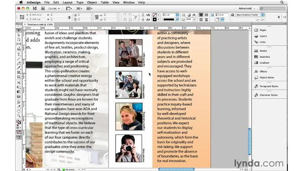 Adding live and static captions: InDesign Insider Training: Beyond the Essentials