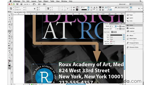 Using advanced strokes: InDesign Insider Training: Beyond the Essentials