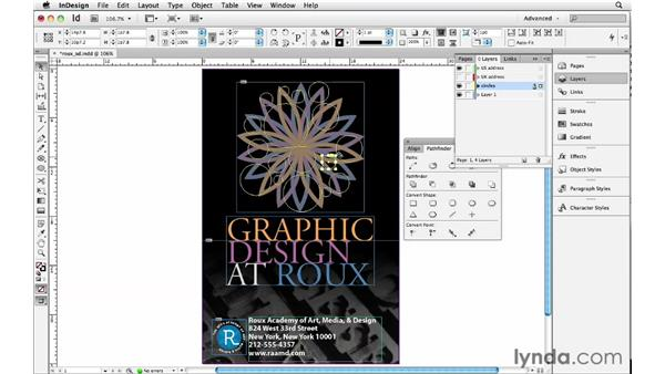 Using Pathfinder and compound paths: InDesign Insider Training: Beyond the Essentials