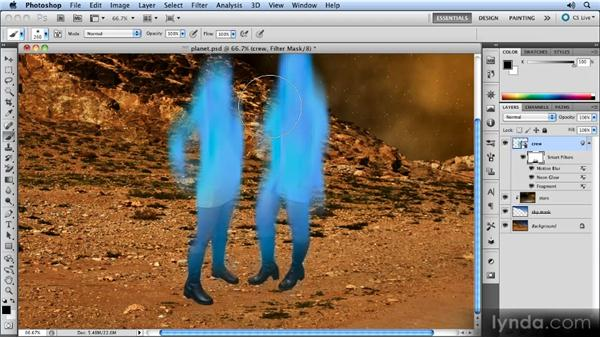 Masking the effect: Photoshop CS5 Smart Objects Workshop