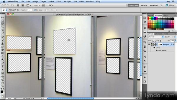 Creating the art gallery: Photoshop CS5 Smart Objects Workshop