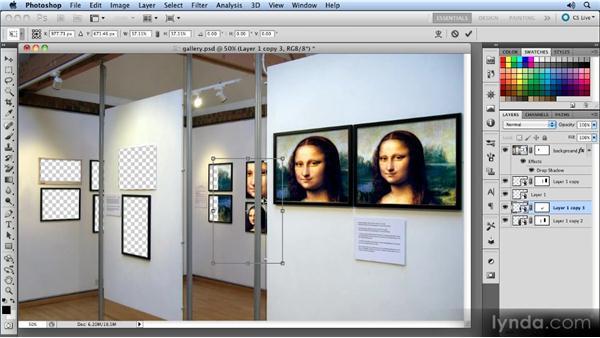Placing the artwork: Photoshop CS5 Smart Objects Workshop