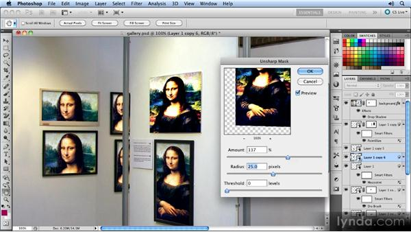 Adding the filters: Photoshop CS5 Smart Objects Workshop