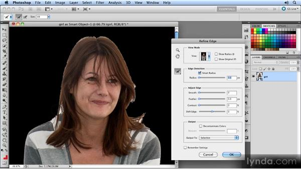 Creating the mask: Photoshop CS5 Smart Objects Workshop