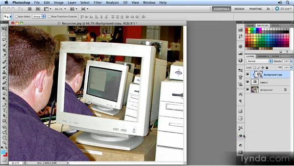 Creating recursive images: Photoshop CS5 Smart Objects Workshop