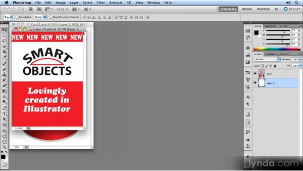 Working with Illustrator files: Photoshop CS5 Smart Objects Workshop