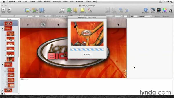 Exporting movies for iOS devices: Delivering Keynote Presentations