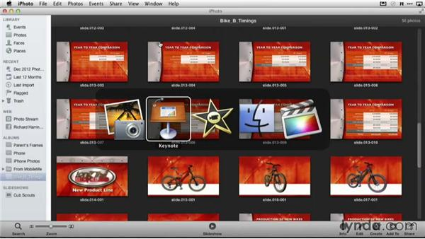 Sending slides to Final Cut Pro X and iMovie: Delivering Keynote Presentations