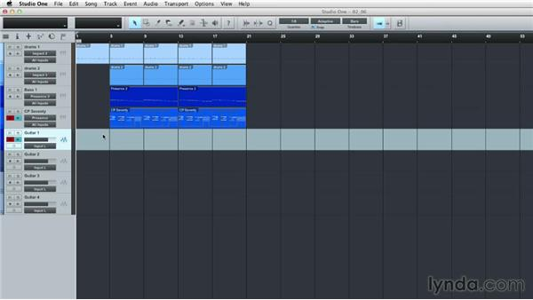 Configuring and recording an audio track: Up and Running with Studio One