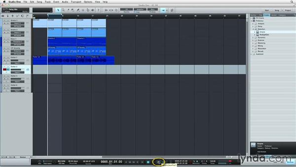 Recording to track layers: Up and Running with Studio One