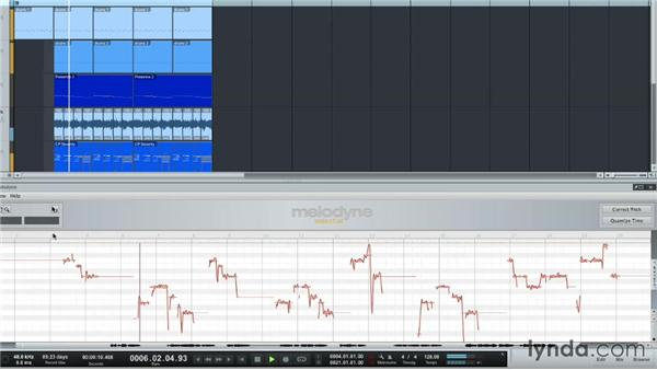 Tuning audio with Melodyne: Up and Running with Studio One