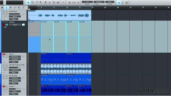 Creating Folder Tracks: Up and Running with Studio One