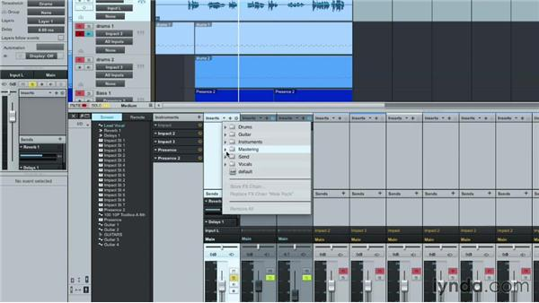 Working with FX chains and presets: Up and Running with Studio One