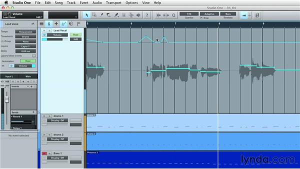 Recording and writing automation: Up and Running with Studio One