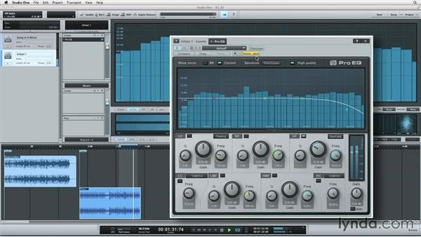 Utilizing EQ, compression, and limiting: Up and Running with Studio One