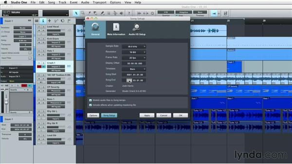 Making changes to your original mix during mastering: Up and Running with Studio One