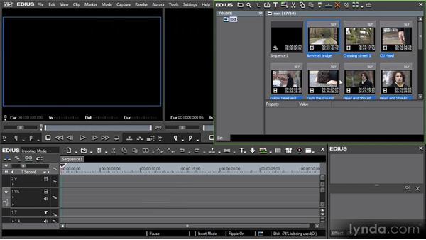 Importing regular media files: Getting Started with EDIUS 6