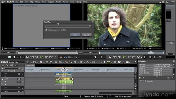 Capturing from tapes: Getting Started with EDIUS 6