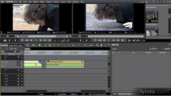 Sequences: Adding clips: Getting Started with EDIUS 6