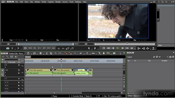 Moving clips in a sequence: Getting Started with EDIUS 6
