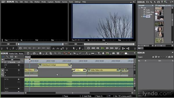 Timeline modes: Getting Started with EDIUS 6