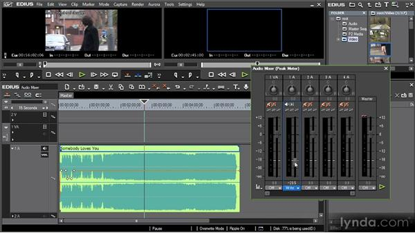 Using the audio mixer: Getting Started with EDIUS 6