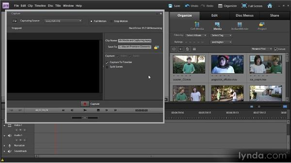 Adding video from camera tapes: Up and Running with Premiere Elements 9
