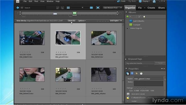 Importing video files: Up and Running with Premiere Elements 9