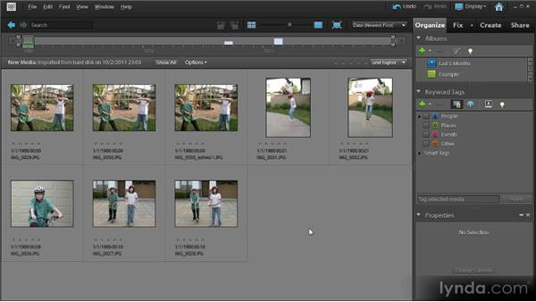 Importing photos: Up and Running with Premiere Elements 9