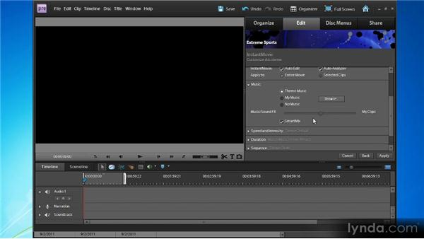 Creating an instant movie: Up and Running with Premiere Elements 9