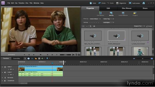 Arranging clips using the Timeline: Up and Running with Premiere Elements 9
