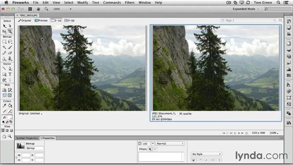 Optimizing and sizing your image in Fireworks: Creating Interactive Projects with Edge Animate