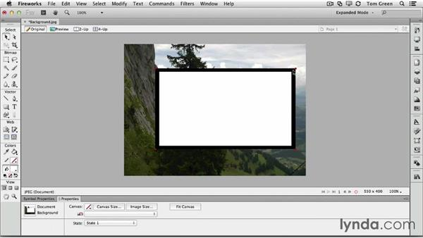 Creating and exporting a video holder in Fireworks: Creating Interactive Projects with Edge Animate