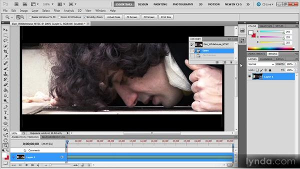 Deinterlacing video: Photoshop CS5 for Video Editors